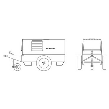 Mosa CTL22 Site Tow Trailer