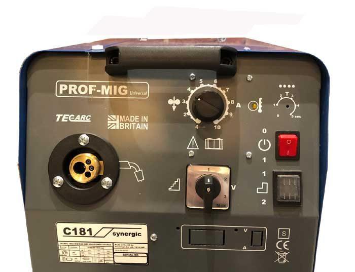 TecArc MIG welder panel