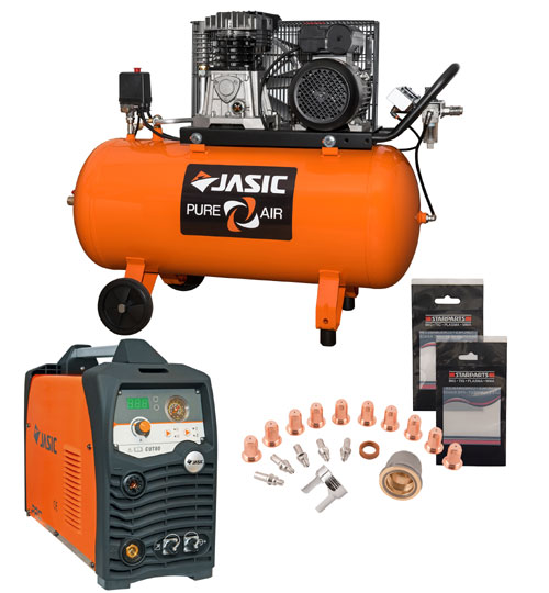 Jasic Compressor and Plasma Cut 80 Package