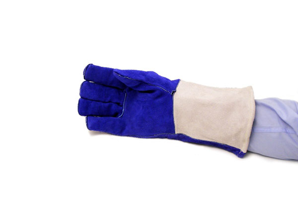 Blue skintex welding gloves EAD007