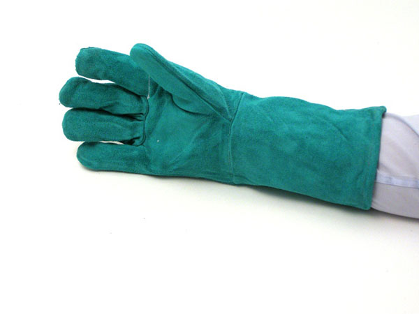Green Leather Welding Gloves EAD000