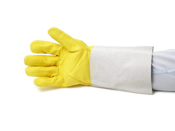 Yellow fine hide TIG gloves