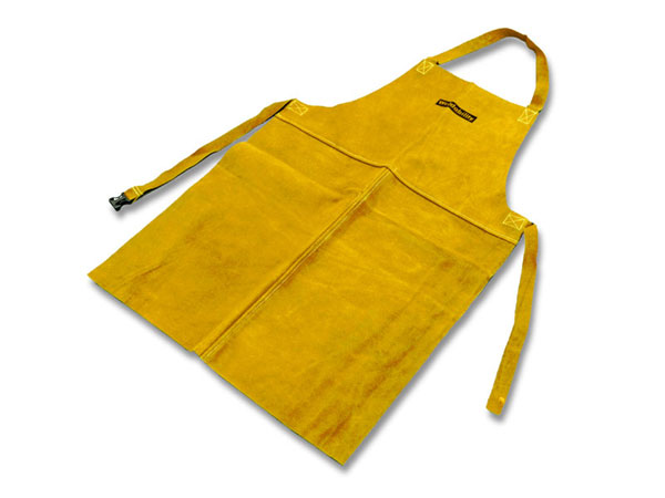 Yellow leather welding apron