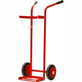 Single welding gas bottle trolley