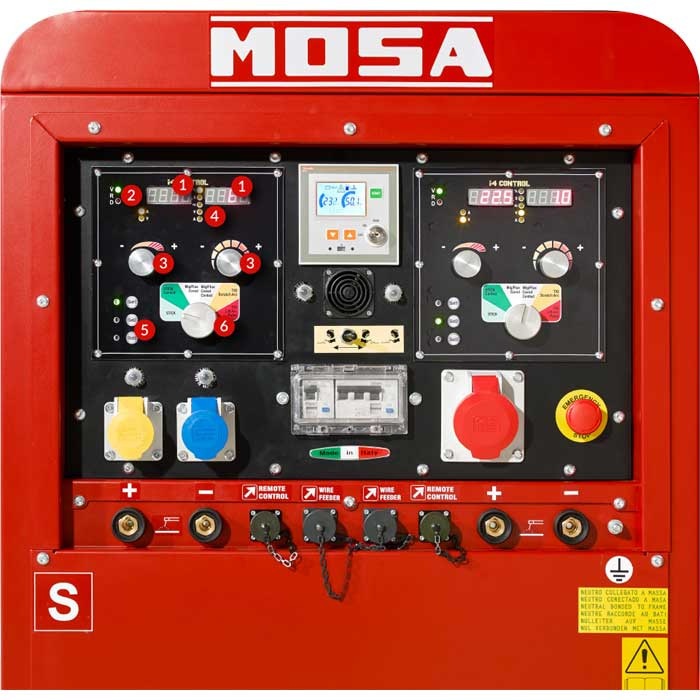 Mosa TS 280 EVO MULTI front panel