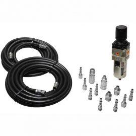 Air hose and filter regulator air hose kit