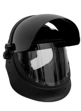 Shade 5 grinding and cutting weltek helmet