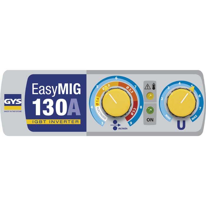 GYS EasyMIG 130 control panel