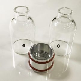 #6 size starter Kit - Clear glass TIG cups WP17 WP18 and WP26