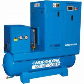 Workhorse 400V screw air compressor 10HP 300 Ltr