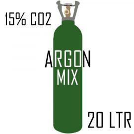 Argon Mix 15% CO2 20 litre Cylinder welding gas bottle rent free refill