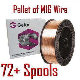 Pallet of MIG Mild Steel G3Si1 SG2 wire 0.6mm 15kg
