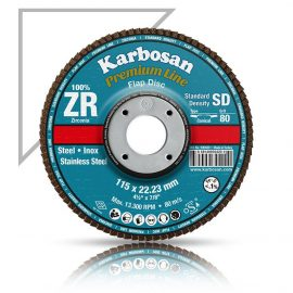 Karbosan Premium Line Zirconium 4.5 inch 115mm flap disc 80 grit