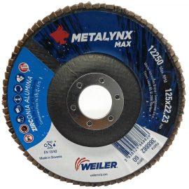 Metalynx MAX Zirconium flap discs 5 inch 120 Grit back