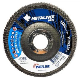 "Metalynx Zirconium flap discs 4.5"" 120 Grit back for 4 & 1/2"" / 4.5"" angle grinder"